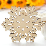 New Snowflake Wooden Coasters Cup Mats Tableware Home Decor