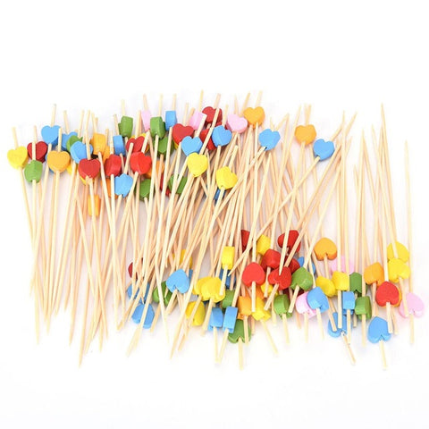 New Cocktail/ Fruit/ Dessert Picks, Fork Sticks 100 pieces Pack Dinning Kitchen Tool