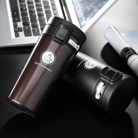 New Double Wall Stainless Steel Vaccum Flask, Tea/ Coffee Travel Mug Thermo Cup