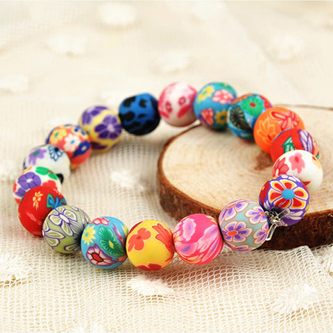 New Pretty Colorful Beads Bracelet