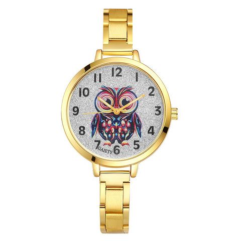 New Fashion Owl Pattern Watch
