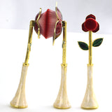 New style!! Exquisite, Beautiful Rose Beauty Brush Set of 3 Makeup Foundation Kabuki Brushes Cosmetic Tool