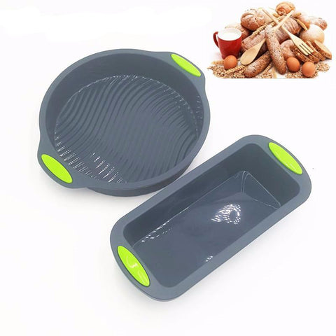 New Set of 2 Cake/ Bread Baking Silicone Trays Cooking Kitchen Tool