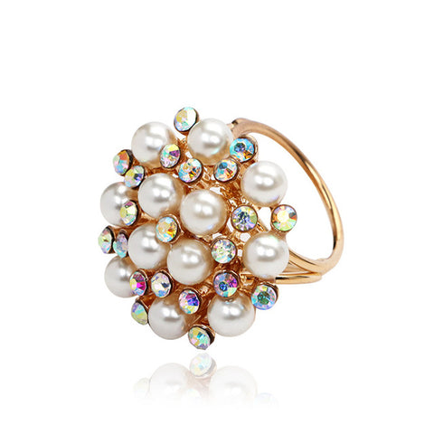New Beautiful Simulated Pearl Scarf Holder Brooch