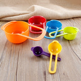 New 2 in 1 Colorful Measuring Cups And Spoons, Set of 6 Baking kitchen Tool