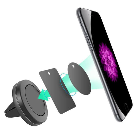 Universal Magnetic Cell Phone Holder Mini Air Vent Mount Mobile Holder For iPhone/Samsung GPS Bracket/ Stand Support