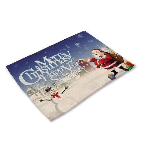New Santa Claus , Snowman, Tablemats Placemats Holiday/ Christmas Decorations Kitchen And Dining Accessories