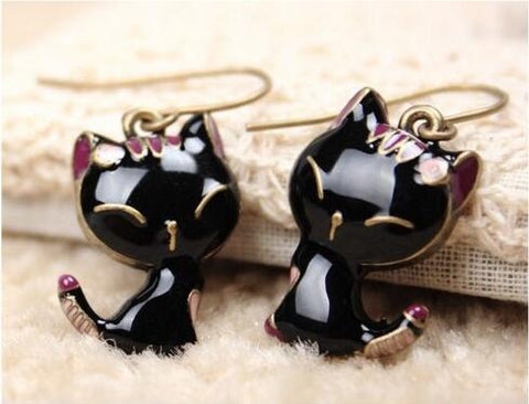 New Beautiful Cute Kitty/ Cat, Heart, Crown, Bow Earrings