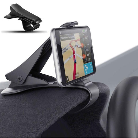 New Universal Car Cell Phone Holder Stand Adjustable Clip Soft Anti Slip Mobile Phone Car Dashboard Stand Bracket