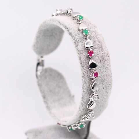 New Beautiful Style Heart Zircon Chain Bracelet