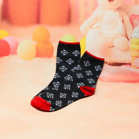 New Arrival Holiday/ Christmas Theme Santa Claus And Snowman Happy Socks