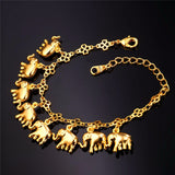 New Fashion Statement Elephant Charm Gold Plated Bracelet