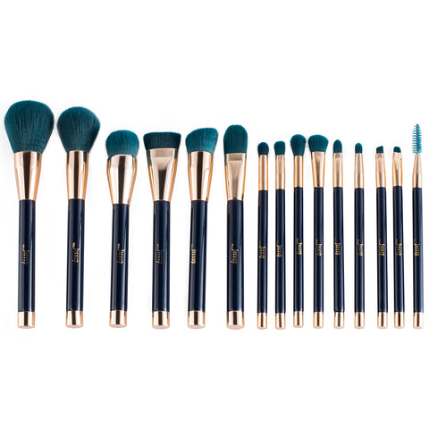 New Proffesional Makeup Brushes Set of 15pcs Lovely Color Cosmetic Make up Tool