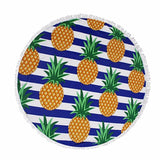 New Fruits And Animation Design Microfiber Beach Spread Floor Tapestry