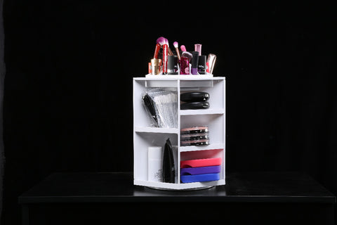 New Rotating Makeup Tools Organizer/ Storage Case Box Holder