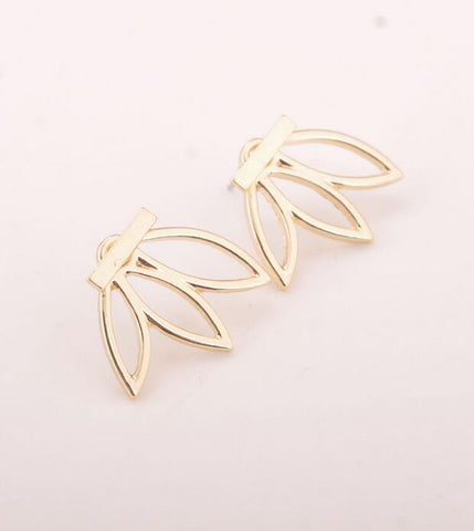 New Fashion New Style Lotus Stud Earrings