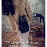 New Hot Unique Style Cat Messenger Bag Shoulder Bag With Classic Strap Handbag
