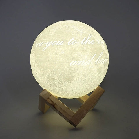 "New ""Love You To The Moon And Back""  And ""Love You Forever"" Moon Night Lamp Home Decor"