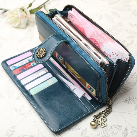 All In 1 Wallet Clutch with Wrist Strap and Cute Dangle