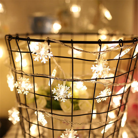 Beautiful Snowflakes LED String Lights For Christmas Decorations Home Decor