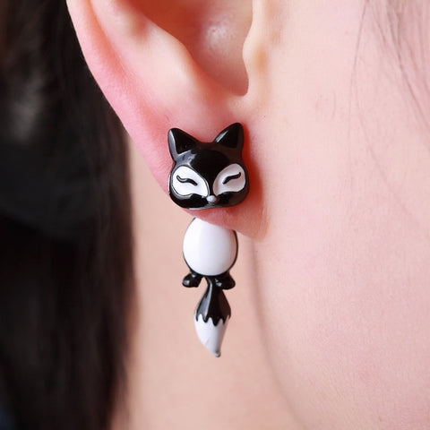 Cute Fox Stud Earrings