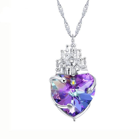 Queen Of Hearts Crystal Pendant Necklace