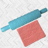 Creative Design Embossing Rolling Pin Baking Tools Kitchen And Dining
