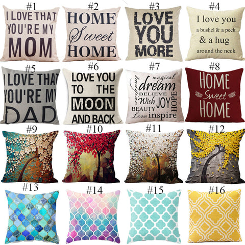 New Mosaic Style Decorative Throw Pillow And Cushion Covers For Sofas And Bed Home Decor