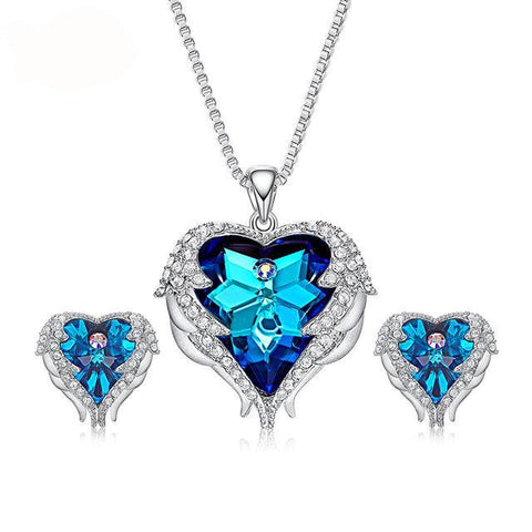 Crystal Star Heart Jewelry Set