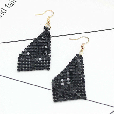 Sequin Tassel Earrings