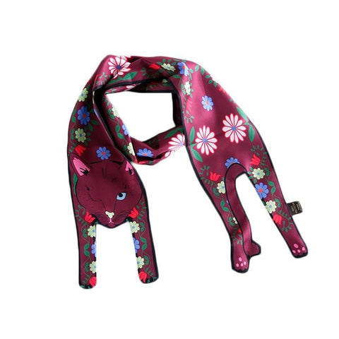 Cute Cat Wrap Around Scarf