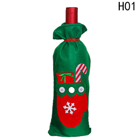New Holiday/ Christmas Wine Bottle Bag, Cover Table Decorations Kitchen And Dining Accessories
