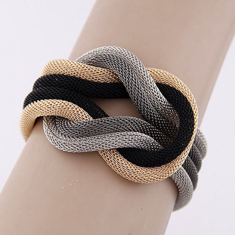 New Knot Design Layered Statement Bracelet
