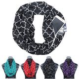 Infinity Loop Scarf With Zipper Pocket