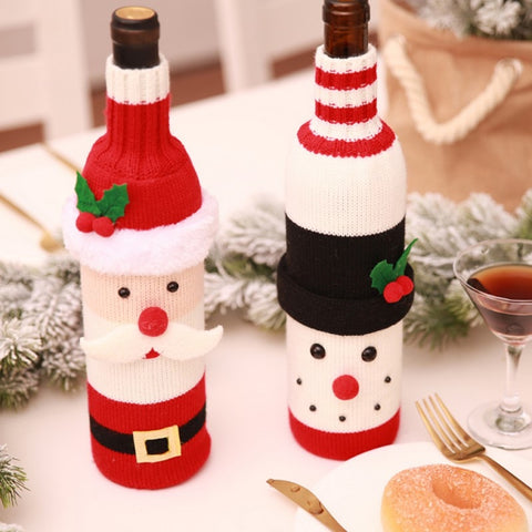 New Santa Claus Wine Bottle Cover, Bag Holiday/ Christmas Decorations