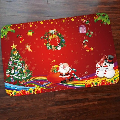 New Joyful Santa Claus Doormat Carpet Holiday/ Christmas Decorations Home Decor