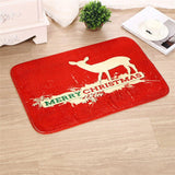New Holiday/ Christmas Doormat Carpet, Santa Claus Decorations Home Decor