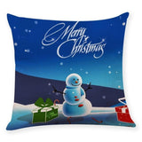 New Snowman, Santa Claus Cushion Cover/ Case Throw pillow Case For Sofa/ Bed/ Car Holiday/ Christmas Decorations Home Decor