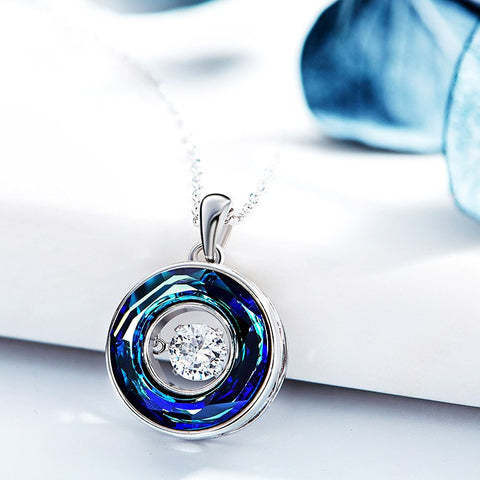 New Dancing Stone In Circle Of Joy Pendant Necklace