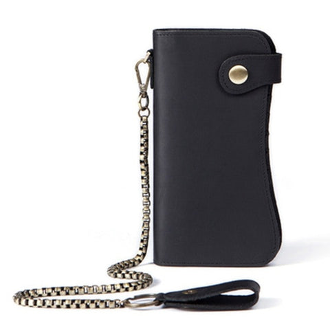 Long Wallet Clutch With Metal Chain