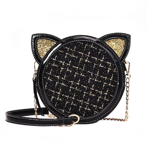 Cute Cat Golden Ears Messenger Bag