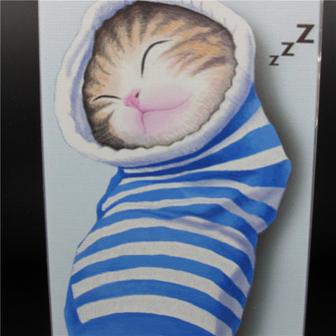 Lovely Cat In Sock Back Case Cover For iPhone 5 6 6Plus