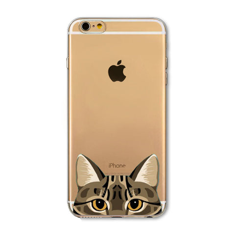 Newest Super Cute Funny Cat Phone Cases For iPhone Thin Back Cover