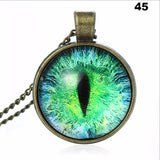 Blue Green Charming Cat Eye Necklace Pendant Fashion for Men Women