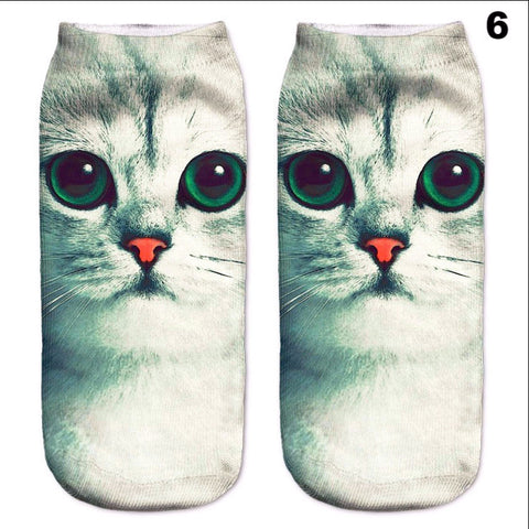 Cute Cat Pattern Low Cut Ankle Socks