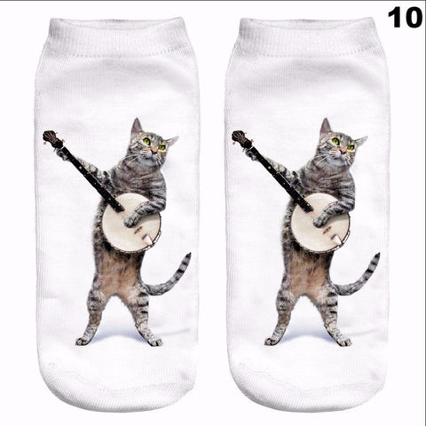 Cat Low Cut Ankle Sock