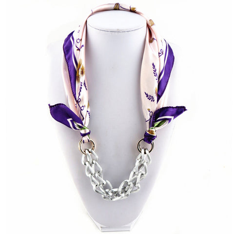 Fashion Short Printed Chain Scarf