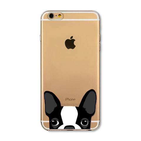 Newest Super Cute Dogs Phone Cases For iPhone Ultra Thin Back Cover For Dog Lovers