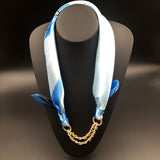 Elegant Fashion Pattern Printed Gold Plated Pendant Scarf Women Accessory