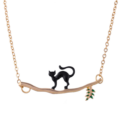 Vintage Lovely Cat Necklace for Women